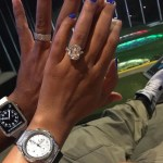 Eudoxie Agnan's Emerald Cut Diamond Ring