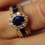 Nikka Martinez' Oval Cut Sapphire Ring