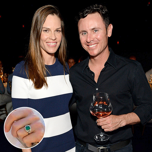 "INDIAN WELLS, CA - MARCH 19:  Actress Hilary Swank (L) and Ruben Torres attend The Moet and Chandon Inaugural ""Holding Court"" Dinner at The 2016 BNP Paribas Open on March 19, 2016 in Indian Wells, California.  (Photo by Michael Kovac/Getty Images for Moet and Chandon)"