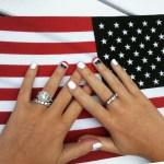 Chloe Melas' Square Shaped Diamond Ring