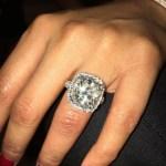Nicki Minaj's Cushion Cut Diamond Ring