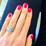 Vogue Williams' Square Shaped Diamond Ring