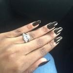 Dolapo Oni's Oval Cut Diamond Ring