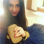 Genelia D'Souza's Round Cut Diamond Ring