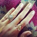 Ashley Madekwe's Round Cut Diamond Ring