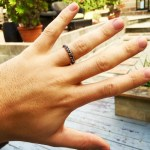 Skylar Astin's Braided Silver Ring