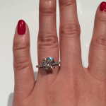 Agnes Chung's Round Shaped Diamond Ring