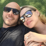 Becca Tobin's Round Shaped Engagement Ring