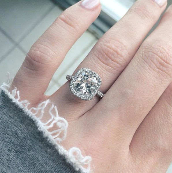 Elle Fowlers Cushion Cut Diamond Ring