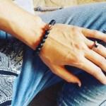 Heather Morris' Square Shaped Black Diamond Ring