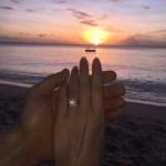Zoe Salmon's Square Shaped Diamond Ring
