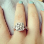 Isabell Hiebl's Cushion Cut Diamond Ring