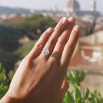 Isabelle Daza's Pear Shaped Diamond Ring