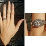 London Elise Moore's Flower Shaped Vintage Diamond Ring