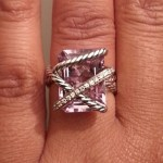 Monifah Carter's Emerald Cut Amethyst Stone Ring