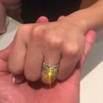 Nikkita Kafoa's Round Cut Diamond Ring