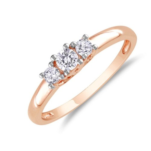 inexpensive-1-4-carat-three-stone-rose-gold-engagement-ring