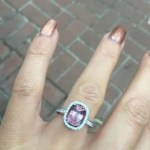 Emma Slater's Cushion Cut Amethyst Ring