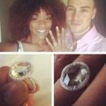 Rachel Adedeji's Oval Cut Yellow Diamond Ring