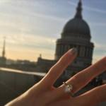 Pixie Lott's Oval Cut Diamond Ring