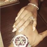 Yvonne Jegede's Emerald Cut Diamond Ring
