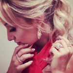 Catherine Tyldesley's Square Shaped Diamond Ring