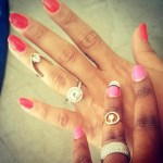 Erica Dickerson's Round Cut Diamond Ring