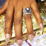 "Reminisce Mackie's ""Remy Ma"" Round Cut Diamond Ring"
