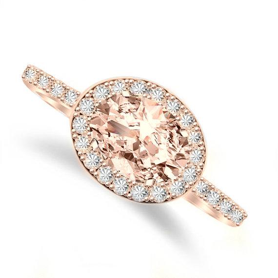 7x5mm-oval-morganite-diamond-halo-east-west-engagement-ring-14k-rose-gold-morganite-engagement-rings-horizontal-ring-rings-for-women