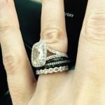 Rhea Durham's Emerald Cut Diamond Ring