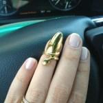 Tiffany Fallon's Pear Shaped Diamond Ring