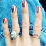 Zanna Roberts' Round Cut Diamond Ring