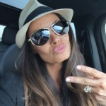 Trish Stratus' Round Cut Diamond Ring