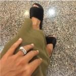 Dominika Cibulkova's Round Cut Diamond Ring