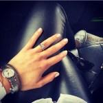 Emilia Bechrakis' Square Shaped Diamond Ring