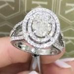 Erin Molan's Oval Cut Diamond Ring