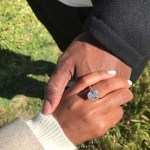 Jazmyn Simon's Oval Cut Diamond Ring