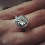 Kristin Klingshirn's Cushion Cut Diamond Ring