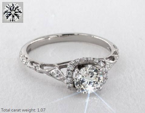 Joanna Gaines Round Cut Diamond Ring