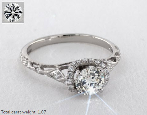 Joanna Gaines Round Cut Diamond Ring