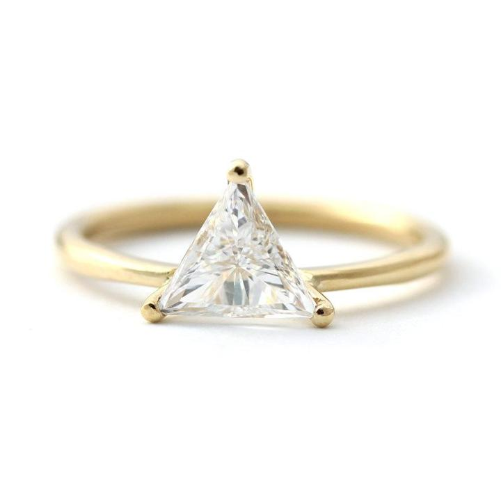 Permalink to Trillion Cut Engagement Ring Settings