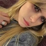 Carlson Young's Princess Cut Diamond Ring