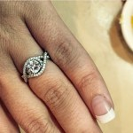 Santana Bordelon's Round Cut Diamond Ring