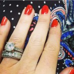Ali Sweeney's Round Cut Diamond Ring