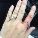Beverley Mitchell's 3.5 Carat Starburst Cut Yellow Diamond Ring