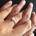 Pamela Savieti's Square Shaped Diamond Ring