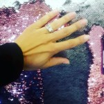 Giovanna Yannotti's Square Shaped Diamond Ring