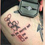 This Tattoo Proposal is Definitely an Engagement to Remember