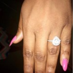 Ayo Thompson's Pear Shaped Diamond Ring