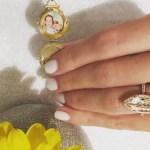 Jaime King's Marquise Shaped Diamond Ring
